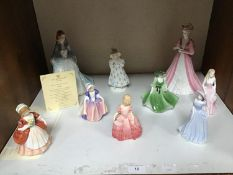 SECTION 10. Two Coalport ceramic figural ladies comprising 'Mary' and 'Emily', together with seven