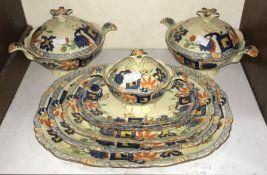 SECTIONS 3 & 4. A 46-piece Mason's 'Regent' pattern part dinner service comprising tureens,
