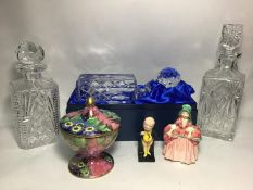 Section 33. A Royal Scot Crystal cut glass decanter in presentation box, together with two further