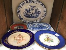 SECTION 25. A Davenport pottery pearlware Chinoiserie blue and white plate with pierced border, a