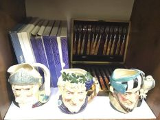 SECTION 7. Three various Royal Doulton character jugs including Bacchus and Don Quixote, together