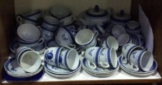 SECTION 5 & 6. An extensive Royal Copenhagen 'Tranquebar' blue and white part tea, coffee and dinner