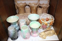 SECTION 23. A large quantity of Sylvac including bark effect stork jugs shape no. 1960, vases, shell