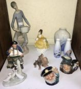 SECTION 26. A collection of assorted mixed ceramics comprising two Royal Doulton figures 'Coralie