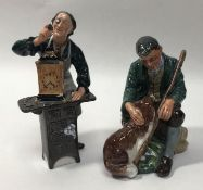 Two Royal Doulton ceramic figures comprising 'The Master HN2325' and 'The Clockmaker HN2279'