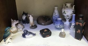 SECTION 13. A collection of assorted mixed ceramics including a number of Royal Copenhagen animal