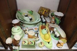 SECTION 28. A large quantity of Carltonware including leaf moulded plates, bowls, condiment sets and