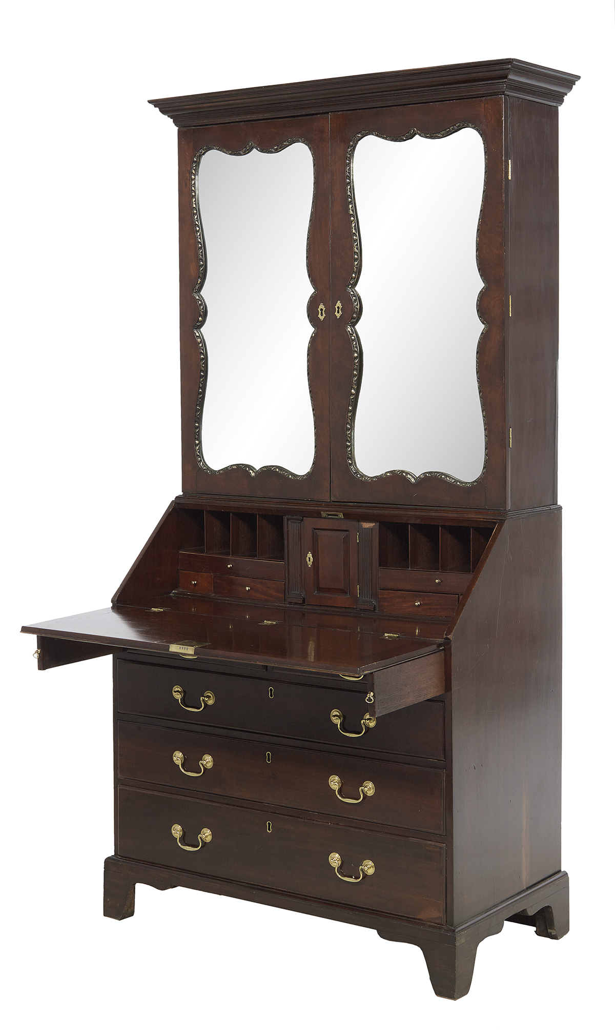 Lot 448 - George III Mahogany Secretary Bookcase