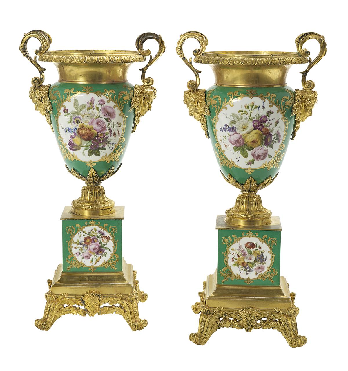 Lot 980 - Pair of Jacob Petit Porcelain and Ormolu Vases