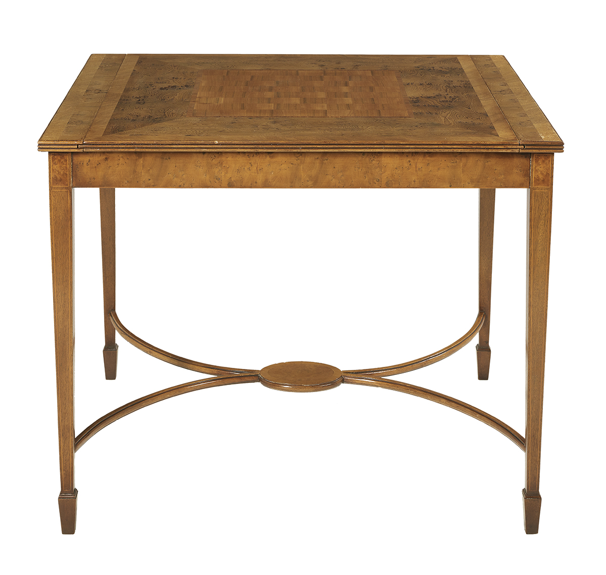 Lot 888 - Interesting Exotic Mixed Woods Inlaid Games Table