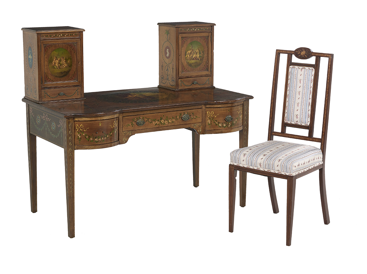 Lot 579 - Signed Edwardian Satinwood Lady's Desk