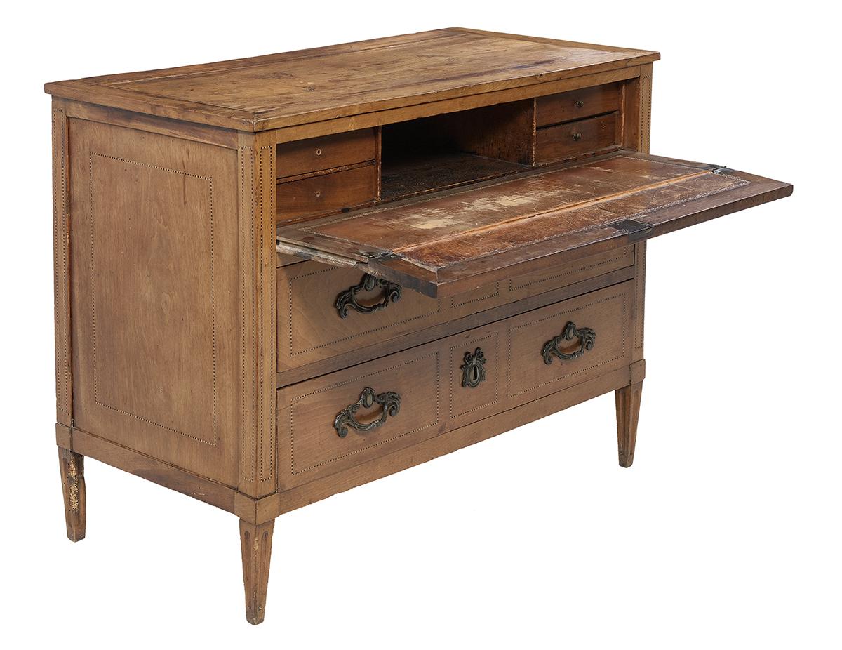 Lot 161 - Italian Neoclassical Inlaid Walnut Desk/Chest