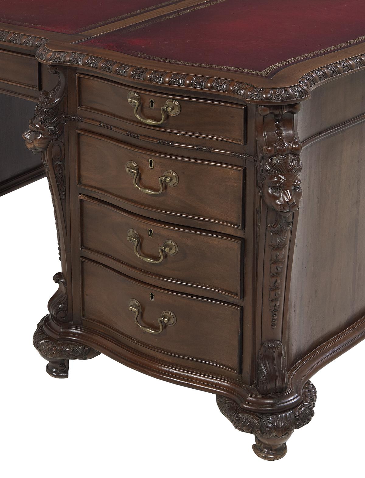 Lot 578 - Victorian-Style Mahogany Desk