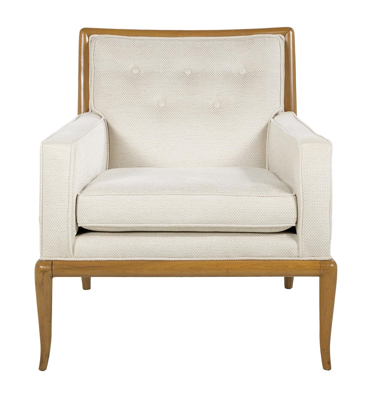 """Lot 887 - Robsjohn-Gibbings Walnut """"WMP"""" Lounge Chair"""
