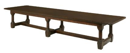 Rare and Monumental George I Oak Refectory Table