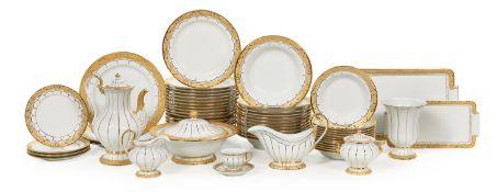 """Meissen """"Gold Leaf""""-Pattern Porcelain Service"""