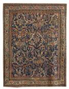Signed Antique Persian Mahal Carpet