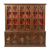 George III-Style Chinoiserie Bookcase