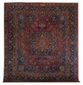 Signed Semi-Antique Mashad Carpet