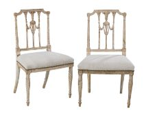Pair of George III Polychromed Side Chairs