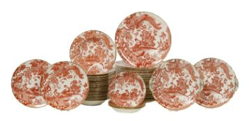 """Royal Crown Derby """"Red Aves"""" Dinner Service"""