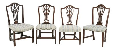 Group of Four American Federal Mahogany Chairs