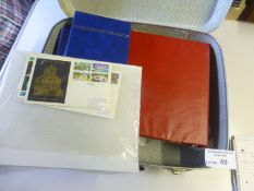 Stamps : Suitcase of covers many with interesting