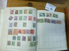 Stamps : Old Time Stamp collection in 2 well filled