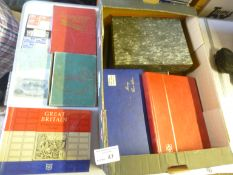 Stamps : Box of various albums mostly GB mint/FU,