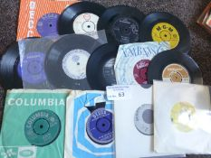 Records : Small case of interesting 45's