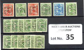 Stamps : Netherlands 1940 Wartime stamps overprint