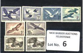 Stamps : AUSTRIA 1950 Birds Set (7 Vals) LMM/MH
