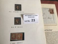 Stamps : GB - Penny Black (2) sg1/2