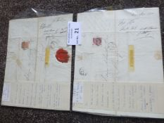 Stamps : GB & various covers inc 3d Rose 1868, 4d