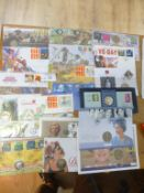 Stamps : GB box of Royal Mail & others coin covers