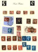 Stamps : Great Britain Colln. In Rapkin Album Incl