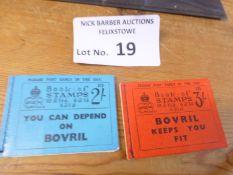 Stamps : King Edward VIII stamps booklets 2/- & 3/