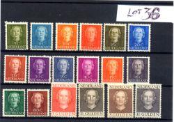 Stamps : Netherlands 1949 Juliana Set complete ex