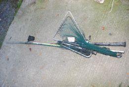 Fishing rods, reels, a net, etc.