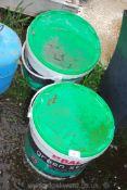 Two tubs of Green Star Tile Adhesive etc.