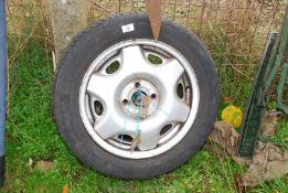 A Wheel and rim 195/5515.