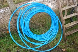 A quantity of blue Water pipe.