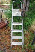 A five step aluminium Step ladder.