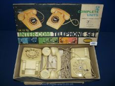 A Playcraft boxed inter-com telephone set, 1950's/1960's.