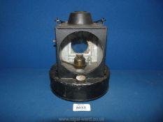 A 1940's B.R railway Lamp, with handle, 8'' tall.