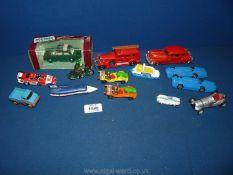 A small quantity of die cast cars including V.W, Bluebird by Corgi, Matchbox etc.