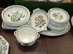 A Portmeirion 'Botanic Garden' part dinner service comprising of 23 pieces to include meat plate,
