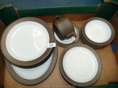 A Hornsea 'Palatine' part Dinner service to include a meat plate, six dinner plates,