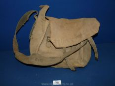 A canvas WWII shoulder bag.