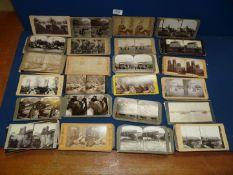 A box of circa 1900 stereoscopic view cards.